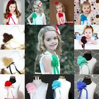 Girl WHITE Pettitop Tank Top Shirt Vest with Bunch rosette for pettiskirt 1-10Y