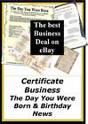 Occasion Certificate Business. Day You Were Born & Birthday News Make eBay Cash