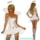 Adorable TUTU Dress *ANGEL* Costume WINGS Socks HALO Sexy WHITE Silver PETTICOAT