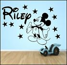 PERSONALISED WALL ART STICKER QUOTE KIT BOYS BEDROOM MICKEY MOUSE HOME DECOR