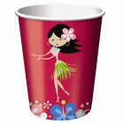 8 x HAWAIIAN PARTY Party CUPS Lets Hula Tableware