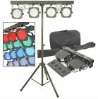 NEW 4 BAR LED DMX & SOUND ACTIVE STAGE PORTABLE LIGHT SYSTEM WITH STAND & TRUSS