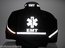 All Reflective EMS Jacket, EMT, Paramedic, Black or Navy, Choose Your Prints