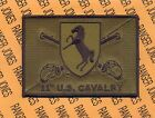 """11th US Armored Cavalry Regiment ACR """"BLACK HORSE"""" pocket patch OD"""