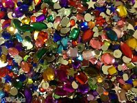 MIXED ACRYLIC JEWELS, CRAFT JEWELS / GEMS / GEMSTONES, EMBELLISHMENTS, 45-50 PCS