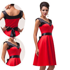 Rockabilly Pin Up Womens Swing 50s Retro Vintage Work Prom Dress Cocktail/Party
