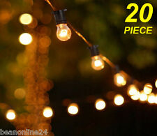 20 Piece Clear Festoon / Party String Light Kit - Bold Vintage Retro Style
