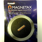 Magnetax Magnetic Car Tax Disc Holder Carbon Back Brand New