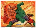 HULK SMASH! INCREDIBLE BATTLE ACTION MARVEL POSTER PRINT FASTNER LARSON ART 1980