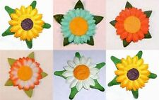PACK 10 PRETTY FLOWER HEAD EMBELLISHMENTS FOR CARDS AND CRAFTS