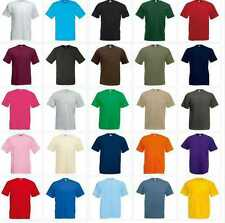 NEW KIDS GIRLS BOYS CHILDRENS COTTON PLAIN FRUIT OF THE LOOM T-SHIRT AGE 1-15