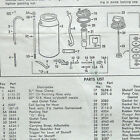 VTG SEARS Open Top Sprayer assembly parts list operating instructions manual AD