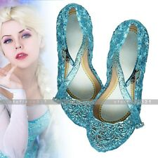 Frozen Princess Elsa Cinderella Cosplay Dance Party Dress Up Sandals Shoes