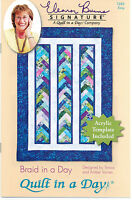 Braid in a Day Quilt Pattern #1284 by Quilt in a Day, Acrylic Template Included.