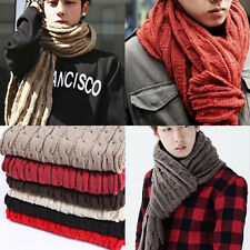 Men's Unisex Stylish Korean Fashion Winter Thermal Wool Knitted Scarf Muffler