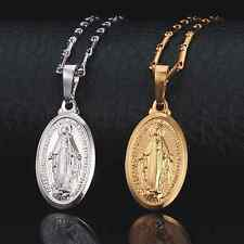 18K Real Gold Plated Virgin Mary Women/Men Pendant Necklace