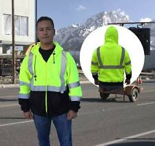 HI VIS ANSI/ISEA Class 3 Safety Full Zip Safety Fleece Hoody Jacket - SAJ6700