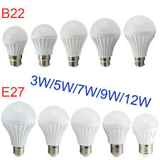 E27 B22 Bayonet BC 3W-12W LED Energy Saving Globe Light Ball Lamp Bulb 220V-240V