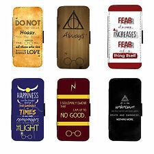 Harry Potter Quotes high quality iphone 6+,6,4,5,c S5,S4 Leather Phone Flip Case