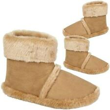 MENS ANKLE SLIPPERS BOOTS WARM FUR FAUX SUEDE SLIP ON WINTER BOOTIE SHOES SIZE