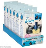 6 x Febreze Car Air Freshener Blossom and Breeze refill refills work in AMBI PUR
