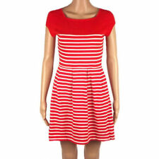 FRENCH CONNECTION NEW RED WHITE STRIPE SUMMER COTTON MINI DRESS SIZES 4-16