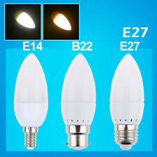 LED Vela Bombilla 3W E14 B22 E27 10 SMD 2835 LED Candle Bulb Lamp Spotlight