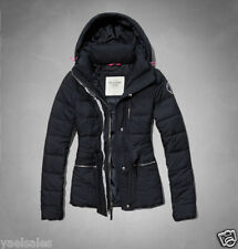 Abercrombie Hollister Women Puffer Jacket Warm Quilted Hooded Coat Outerwear XS