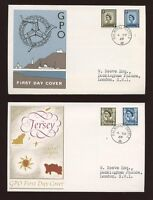 1968 Regionals 4d 5d set 6 ROYAL COURT Post Office with BALMORAL CASTLE CDS FDC