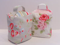 HANDCRAFTED DOORSTOP in CATH KIDSTON FABRICS; Roses White or Stone Roses