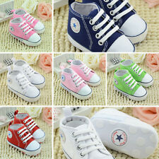 Soft Sole Crib Shoes Infant Toddler Baby Boy Girl Sneaker Newborn to 12 Months