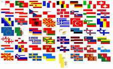 Europe Country Flags Motorbike STICKERS 60mm x 30mm *** Buy 2 get 1 FREE