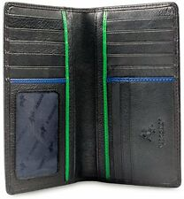 Visconti BD12 Genuine Leather Mens Tall Wallet ID Card Holder Checkbook Bi-fold