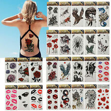 Waterproof Removable Temporary Tattoo Rose Animals DIY Body Art Sticker Sheet