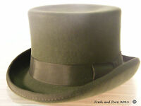 New English Gentleman's Genuine Classic Olive Green Top Hat Brand New S M L XL