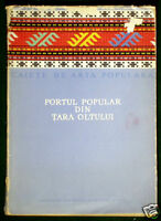 RARE BOOK Romanian Folk Costume Olt Fagaras ethnic embroidery apron fashion art