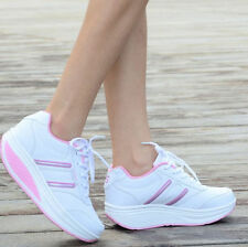 Womens Chic Platform Wedge Air Max Spring Boots Sneakers Lace Up Creeper Shoes