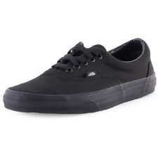 Vans Era Womens Canvas Black Black Skate Trainers New Shoes All Sizes
