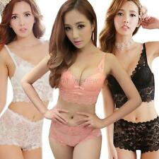 New Womens Lady Cute Sexy Underwear Lace Embroidery Bra Sets / Boxer Briefs D34