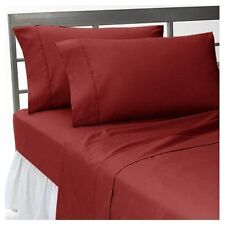 1000TC Egyptian Cotton Extra Deep Pocket Bedding Items Burgundy Solid  All Sizes