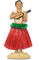 "Hawaiian Dashboard Hula 7"" Boy Doll Playing Ukulele Hawaii Islands Wiggles NIB"