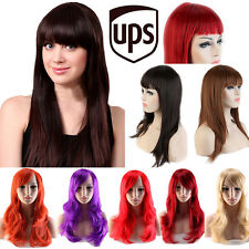 Cheap Pirce Women Anime Cosplay Wigs Natural Layer Wavy Full Wigs Party Costume