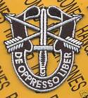 SPECIAL FORCES AIRBORNE DUI crest flash patch 2 inch