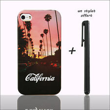Coque pour iphone 4 4S 5 5S motif California Sunset Hollywood (swag hype case)