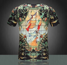 2015 new Famous Design Mens fashion print T Shirts cotton short sleeve Shirts