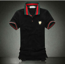2015 new Famous Design Mens fashion print Polo Shirts cotton short sleeve Shirts