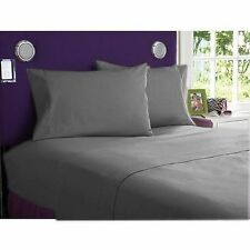 "1000TC COMPLETE BEDDING ITEMS 100%EGYPTIAN COTTON""ELEPHANT GREY"" FREE SHIP TO US"