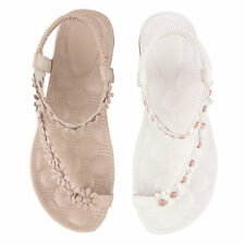 Summer Fashion Women Casual Floral Flat Shoes Beach Sandals Slippers Shoes S#