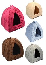 New Dog Cat Warm Fleece Winter Bed Igloo House Soft Luxury Basket For Pets