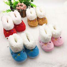 Baby Girl Newborn Infant Winter Warm Boots Toddler Soft Shoes Anti-slip Sole